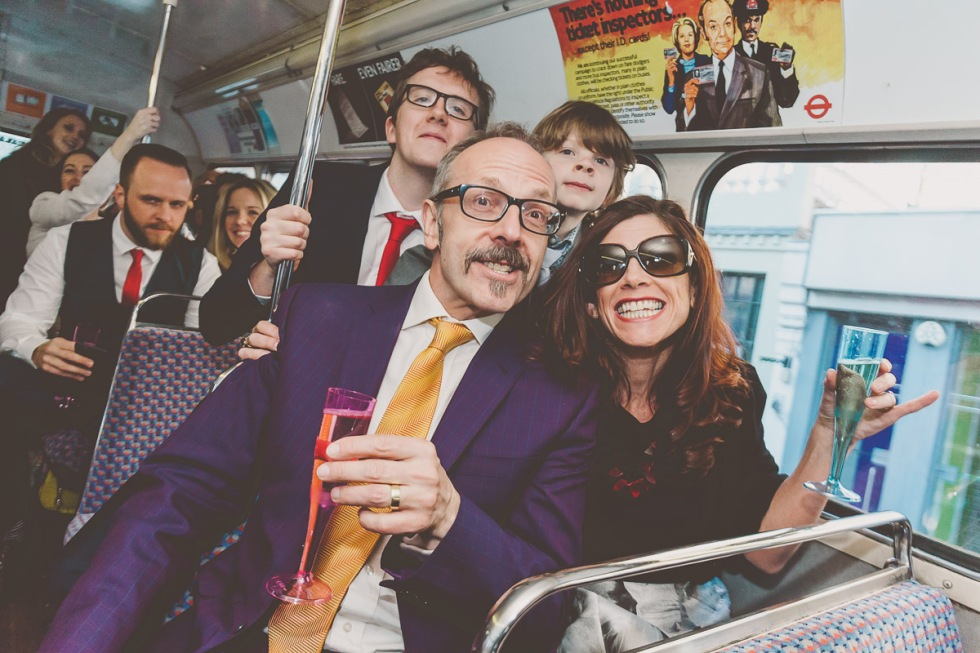 London Bus Wedding Photographer